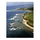Aerial View Of Hanalei Shore - Kauai Post Card