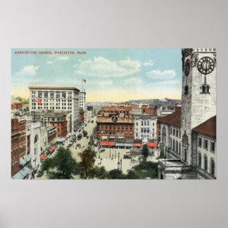 Aerial View of Harrington Corner Poster