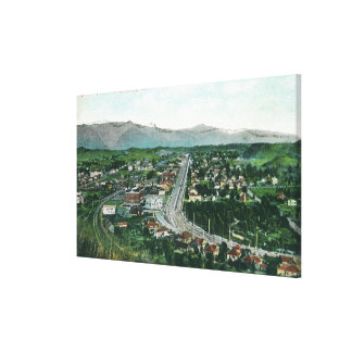 Aerial View of Highland Park Canvas Print