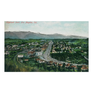 Aerial View of Highland Park Poster