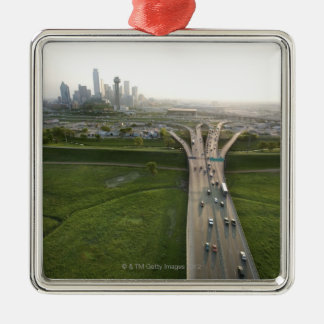 Aerial view of highway in Dallas, Texas Christmas Ornament