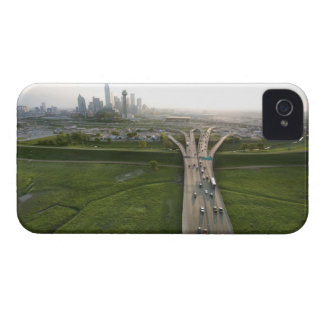 Aerial view of highway in Dallas, Texas iPhone 4 Case