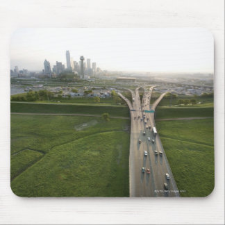 Aerial view of highway in Dallas, Texas Mouse Mat