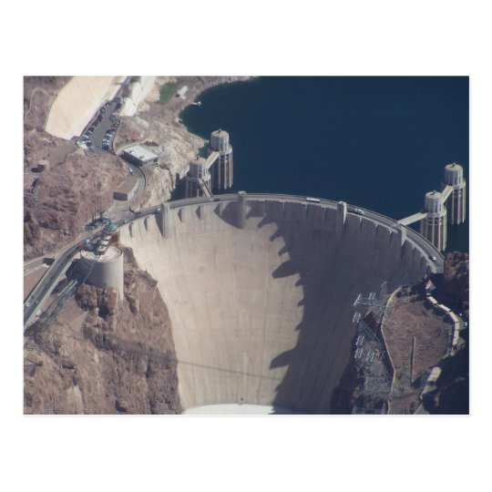 Aerial View of Hoover Dam Postcard