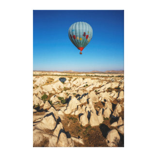 Aerial View Of Hot Air Balloon, Cappadocia Canvas Print