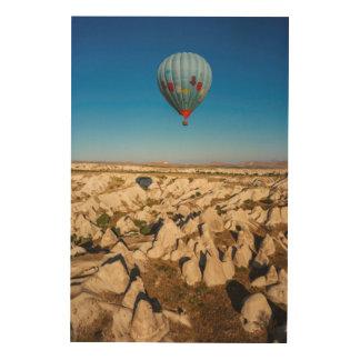 Aerial View Of Hot Air Balloon, Cappadocia Wood Wall Decor