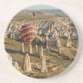 Aerial View Of Hot Air Balloons, Cappadocia 2 Coaster