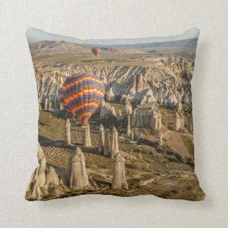 Aerial View Of Hot Air Balloons, Cappadocia 2 Cushion