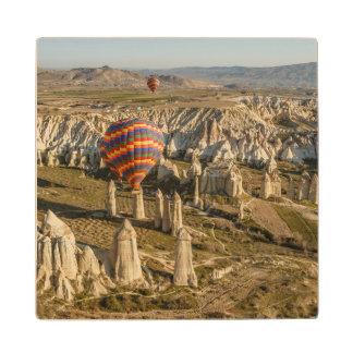 Aerial View Of Hot Air Balloons, Cappadocia 2 Wood Coaster