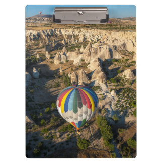 Aerial View Of Hot Air Balloons, Cappadocia Clipboard