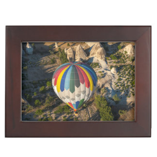 Aerial View Of Hot Air Balloons, Cappadocia Keepsake Box