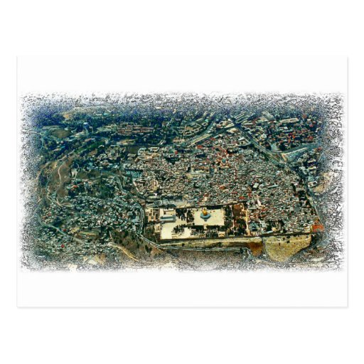 Aerial View of Jerusalem Postcards