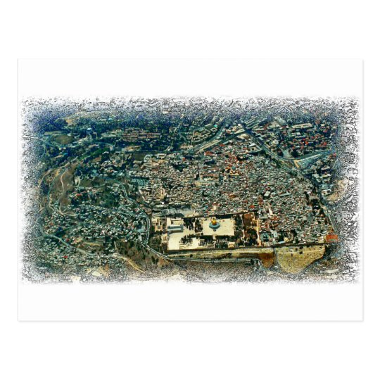 Aerial View of Jerusalem Postcard