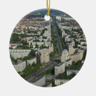 Aerial view of Karl Marx Allee in Berlin Germany Round Ceramic Decoration