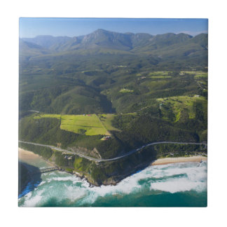 Aerial View Of Keurbooms River, Garden Route Small Square Tile