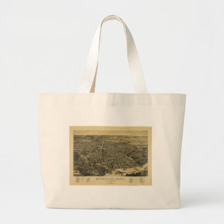 Aerial View Of Knoxville Tennessee from 1886 Canvas Bags