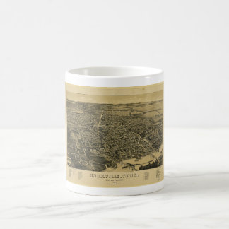 Aerial View Of Knoxville Tennessee from 1886 Basic White Mug