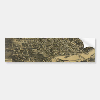 Aerial View Of Knoxville Tennessee from 1886 Car Bumper Sticker