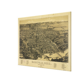 Aerial View Of Knoxville Tennessee from 1886 Canvas Print