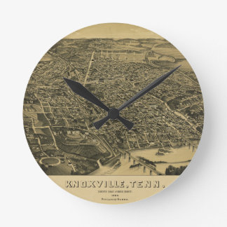 Aerial View Of Knoxville Tennessee from 1886 Wallclocks