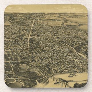 Aerial View Of Knoxville Tennessee from 1886 Beverage Coasters