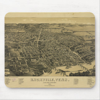 Aerial View Of Knoxville Tennessee from 1886 Mouse Mat