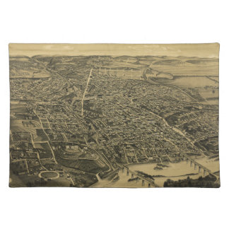 Aerial View Of Knoxville Tennessee from 1886 Placemat