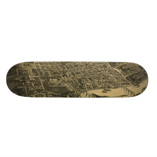 Aerial View Of Knoxville Tennessee from 1886 Skateboard Decks