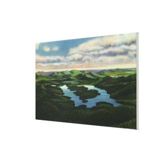 Aerial View of Lake Placid Canvas Print
