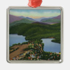 Aerial View of Lakes Placid and Mirror Christmas Ornament