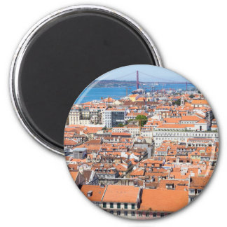 Aerial view of Lisbon, Portugal Magnet