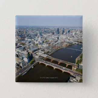 Aerial View of London 15 Cm Square Badge