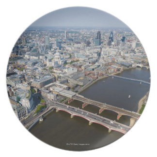 Aerial View of London Plate