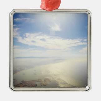 Aerial view of Long Beach, California Christmas Ornament