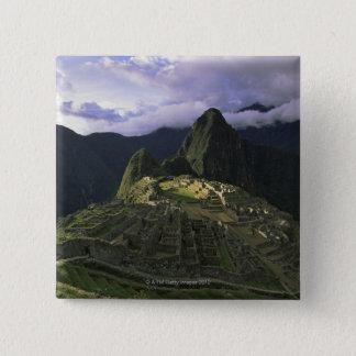 Aerial view of Machu Picchu, Peru 15 Cm Square Badge