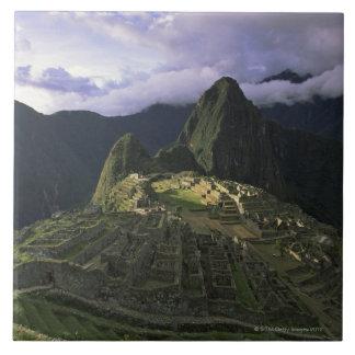 Aerial view of Machu Picchu, Peru Large Square Tile
