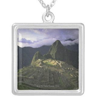 Aerial view of Machu Picchu, Peru Silver Plated Necklace