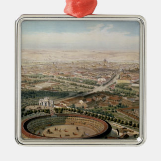 Aerial View of Madrid from the Plaza de Toros Christmas Ornament