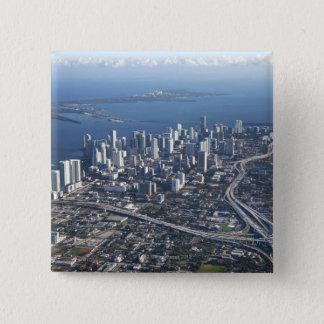 Aerial view of Miami 15 Cm Square Badge