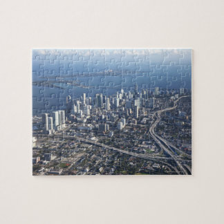 Aerial view of Miami Jigsaw Puzzle