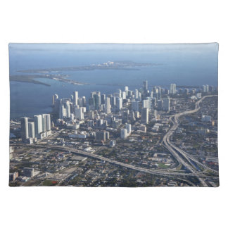 Aerial view of Miami Placemat
