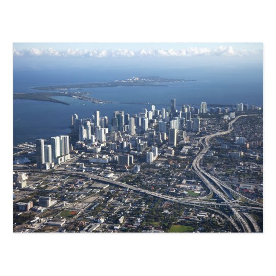Aerial view of Miami Postcard