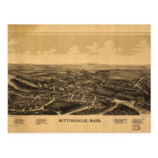Aerial View of Mittineague, Massachusetts (1889) Postcard