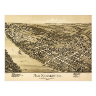 Aerial View of New Kensington, Pennsylvania (1896) Postcard