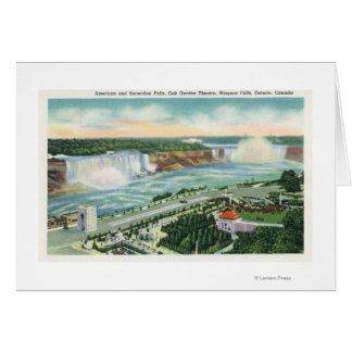 Aerial View of Oakes Garden Theatre and Falls Greeting Card