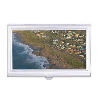 Aerial View Of Orange Rock, South Coast Business Card Holder