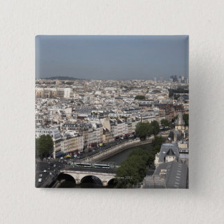aerial view of PARIS 15 Cm Square Badge