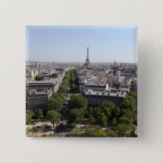 aerial view of PARIS 2 15 Cm Square Badge