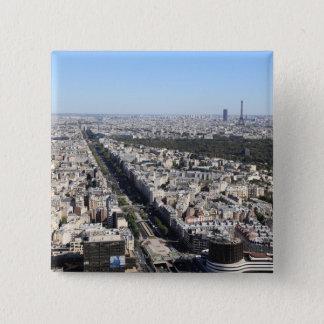 aerial view of PARIS 3 15 Cm Square Badge