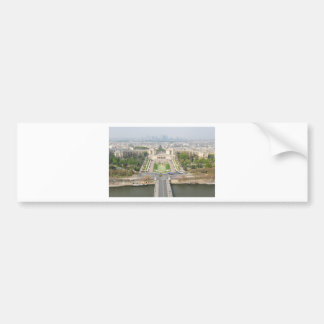 Aerial view of Paris Bumper Sticker